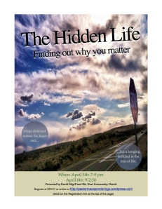 Hidden Life Flyer 2013